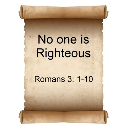 No one is Righteous
