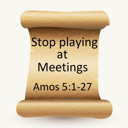 Stop playing at meetings