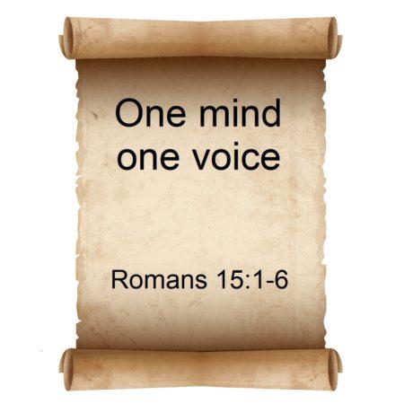 One mind one voice