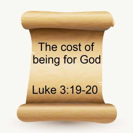 The cost of being for God