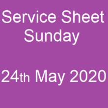 Service Sheet 24th May