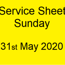 Service Sheet 31st May 2020
