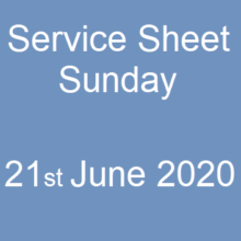 Sunday Service June 21 2020