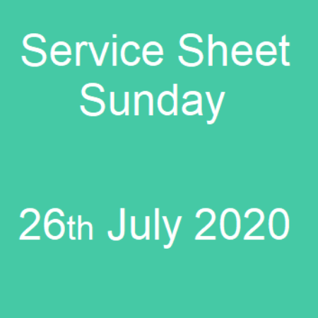 Service Sheet 16th July 2020