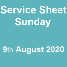 Service Sheet 9th August 2020